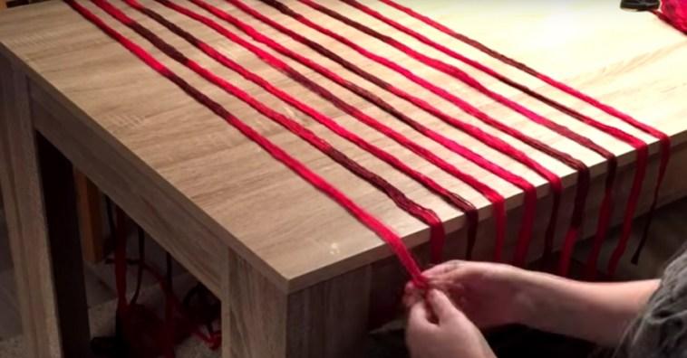 Теплый шарф, который можно соткать прямо на столе