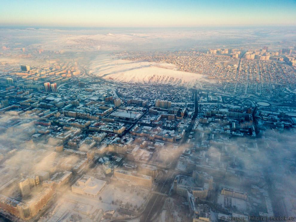 Центр города и Покровка.