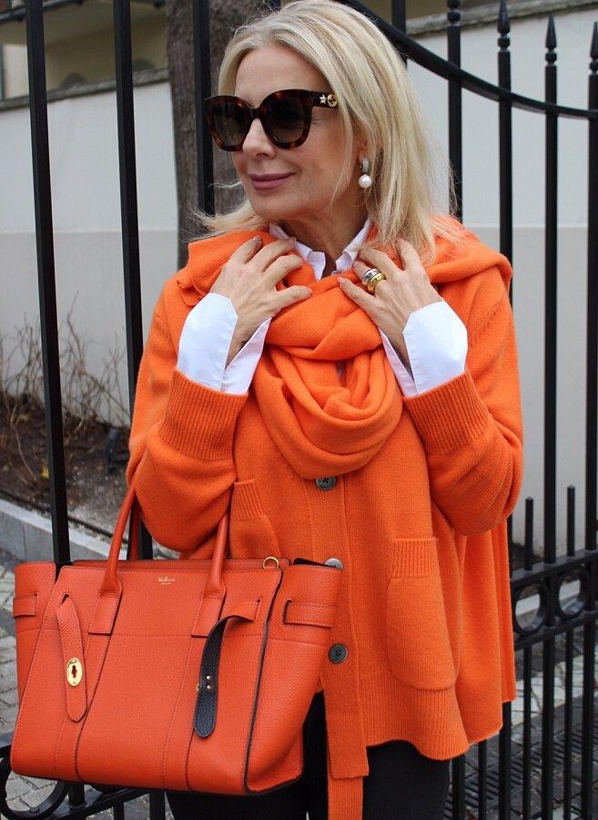 Сочный оранжевый цвет заряжает позитивом
