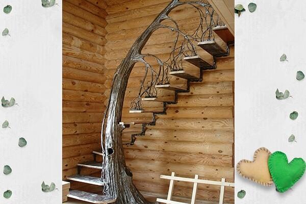 Как Вам лестница? По моему очень оригинально! handmake,дизайн интерьера,поделки своими руками,разное,строительство и ремонт