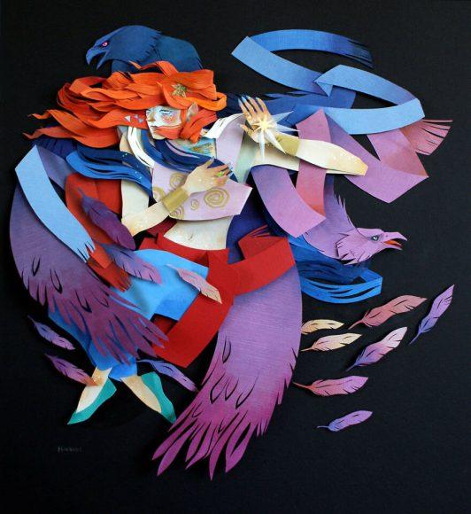 Объёмная картина с изображением девушки