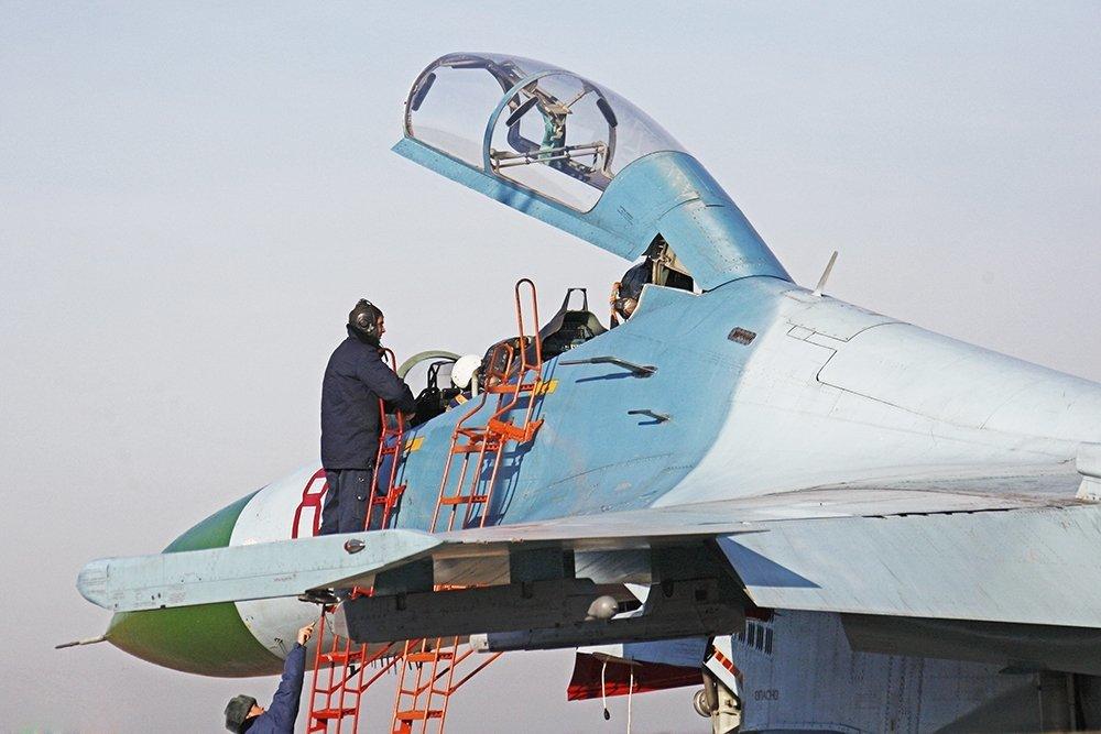 Появились подробности гибели Су-27 украинских ВВС