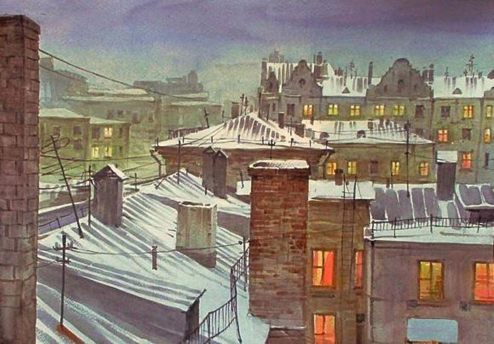 Акварельные пейзажи художника Ильи Горгоца, фото № 39