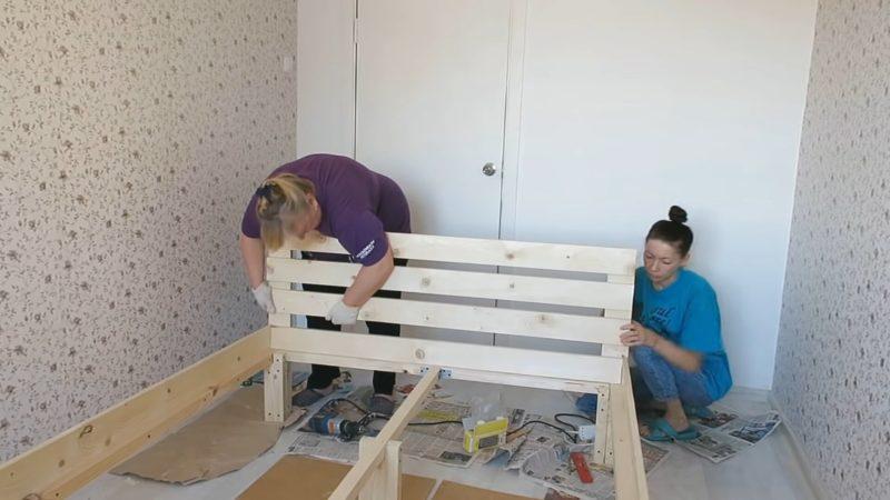 Как дешево сделать самому кровать интерьер,своими руками,сделай сам