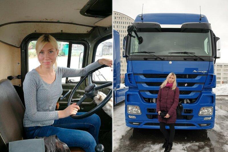 «В автошколе думали, что я ошиблась дверью». История Саши — самой молодой дальнобойщицы Беларуси авто, девушки, факты