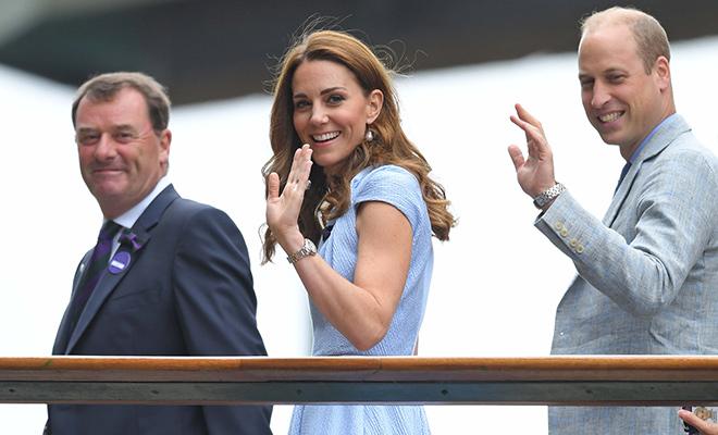 Кейт Миддлтон и принц Уильям на заключительном дне Умблдона Монархи,Британские монархи