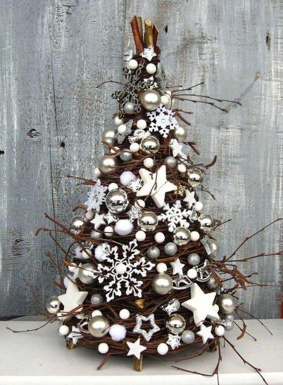 Новогодние ёлочки из природных материалов: как и из чего делать вдохновляемся,новогодний декор