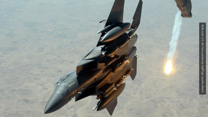 Возглавляемая США коалиция нанесла удар по правительственным войскам Сирии