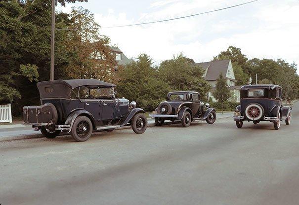1. Винтажные автомобили для исторического фото за кадром, кадры, неожиданно, постановка, постановочные фото, секреты, фото, фотограф