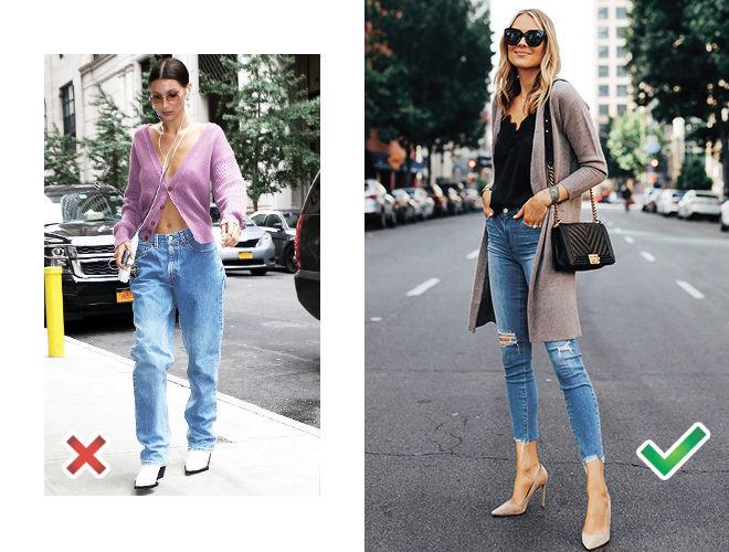 Укороченный кардиган  фото, Белла Хадид фото, классически кардиган с джинсами фото