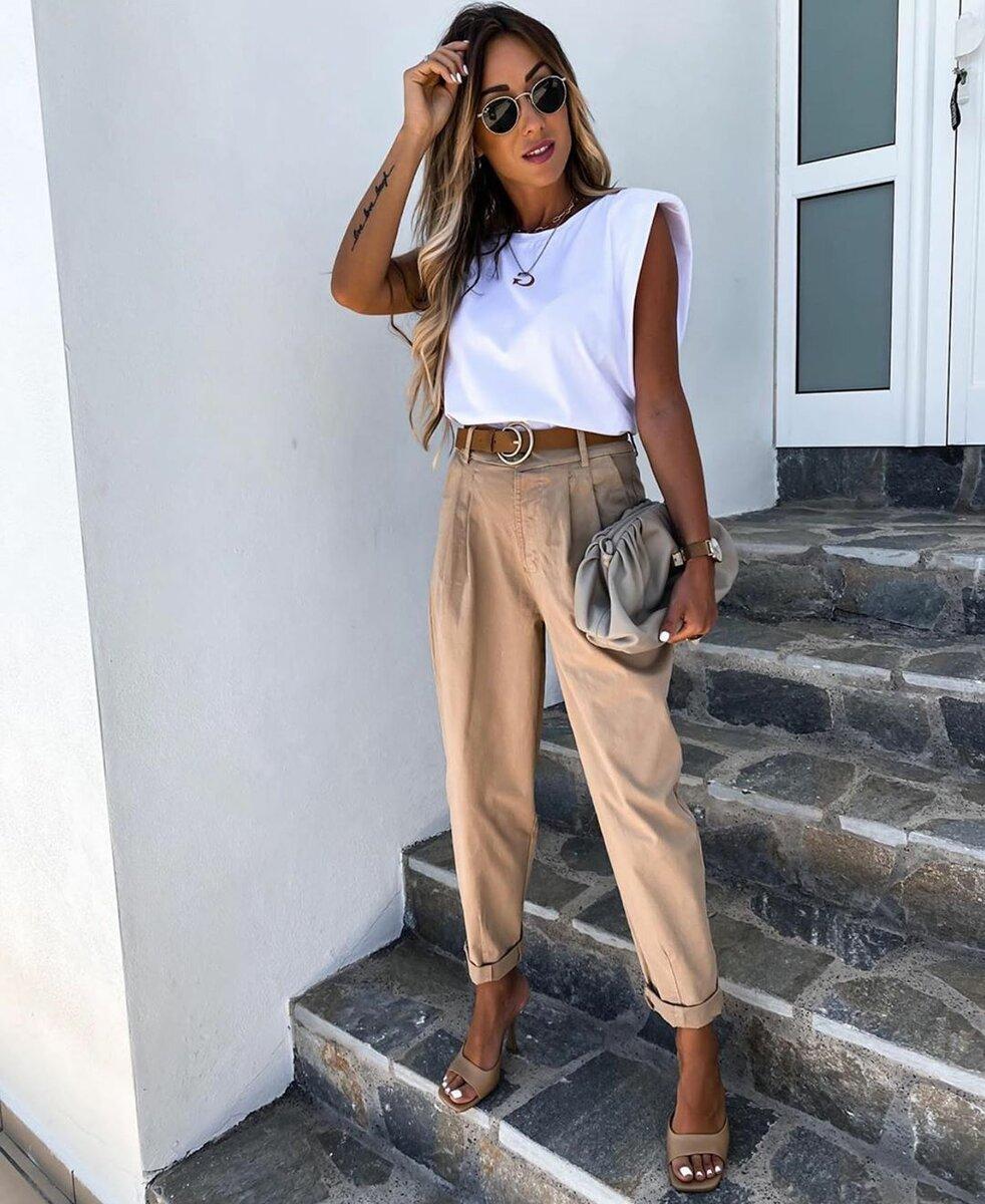 Модные летние образы в стиле минимализм 2020