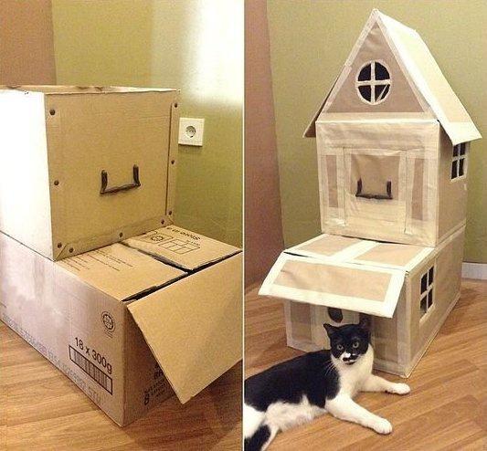 Коробочные домики  и полочки