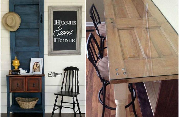 Почему не стоит выбрасывать старые двери: 17 невероятных идей