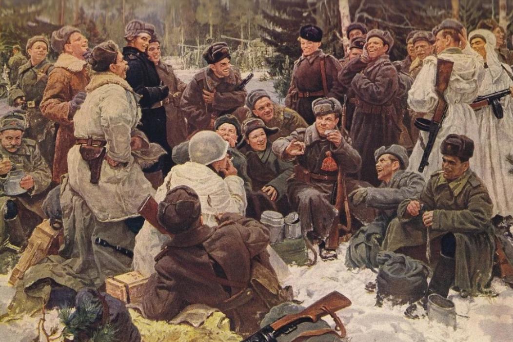 Как праздновали 23 февраля во время ВОВ