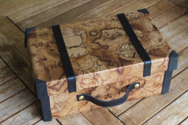 Самодельный декоративный чемоданчик для упаковки подарка мастерство,поделки,рукоделие,самоделки,своими руками,сделай сам,творчество,умелые руки