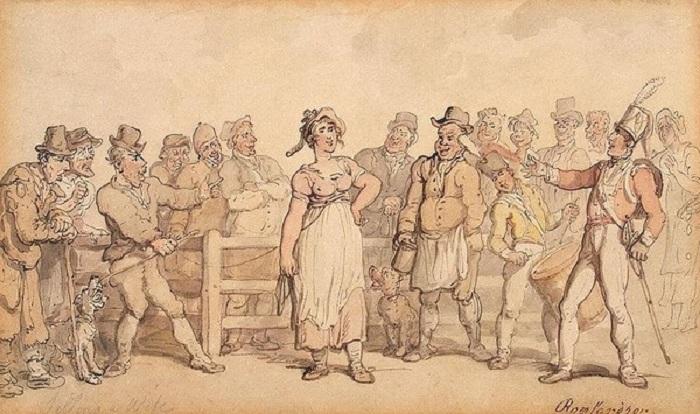 Как надоевших жен продавали: практика, популярная в Англии XVIII-XIX вв.