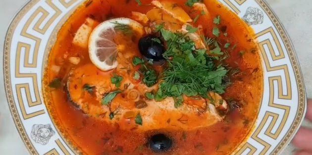 Рыбная солянка - рецепт