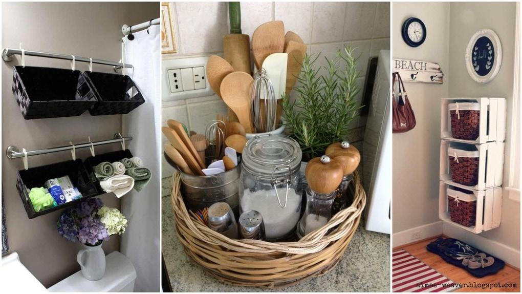 19 интересных идей использования корзин для увеличения полезного пространства