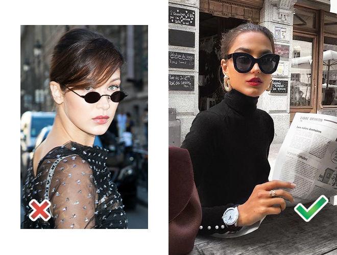 Микро-очки чёрные фото, крупные солнцезащитные очки фото