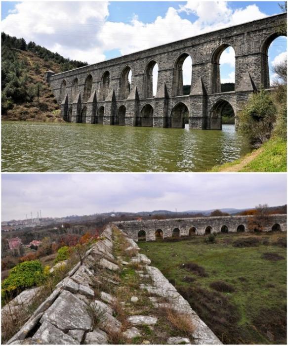 По таким акведукам вода доставлялась в Константинополь (Акведук Гюзелдже Кемери и Эгри).   Фото: moystambul.ru.
