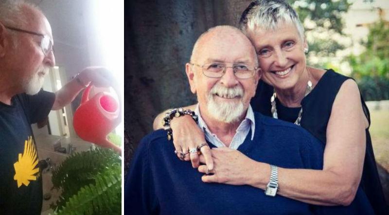 Умирающая жена попросила поливать цветы. Через несколько лет муж обнаружил, что они искусственные