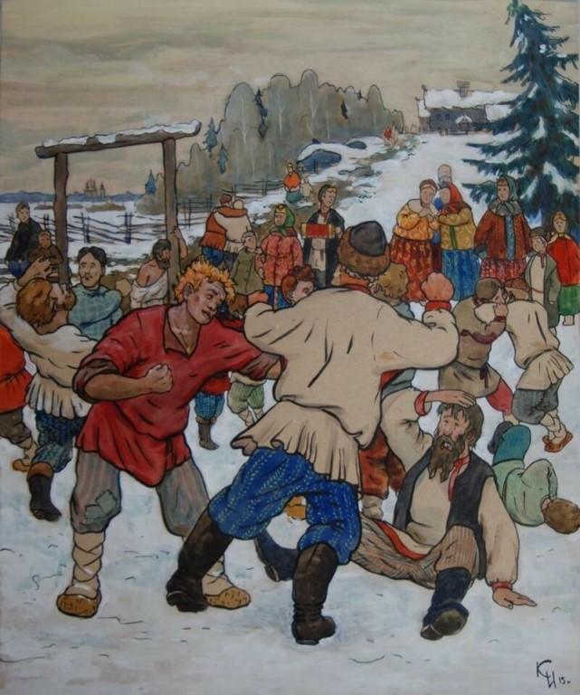 Картинки русские народные забавы