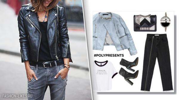6 смелых образов с курткой-косухой для дерзкой натуры