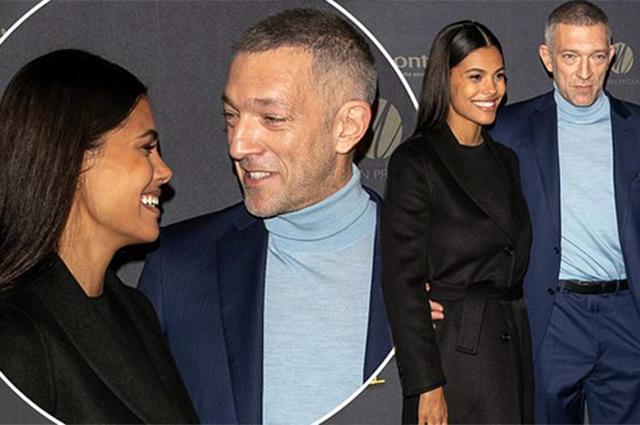 Венсан Кассель и Тина Кунаки светились от счастья на премьере фильма в Париже