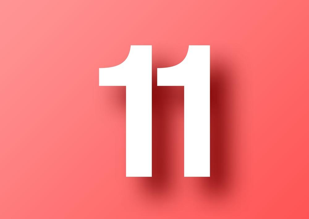 Картинки с числом 11, надписью