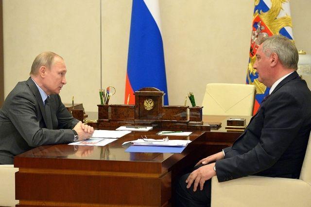 Путин обсудил с Рогозиным ГЛОНАСС