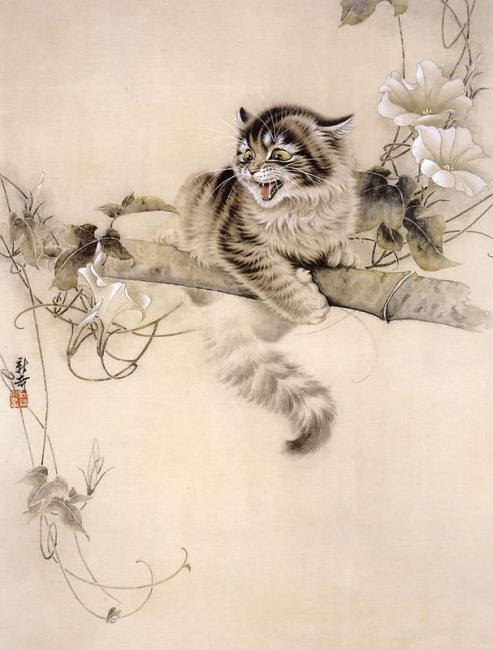 Кошки в традиционной китайской живописи гохуа — необычно и очаровательно