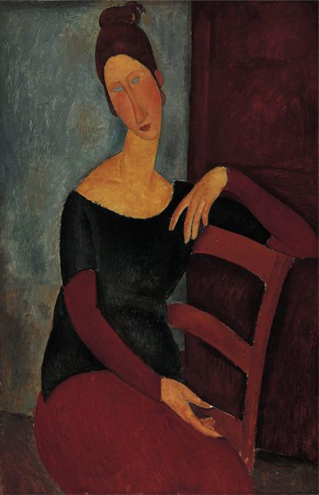 Jeanne Hebuterne, 1918 г. Автор: Amedeo Modigliani.