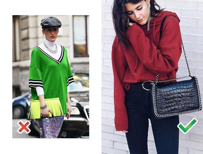 Неоновые аксессуары фото, красная кепка неонового цвета фото, сумка с цепями фото