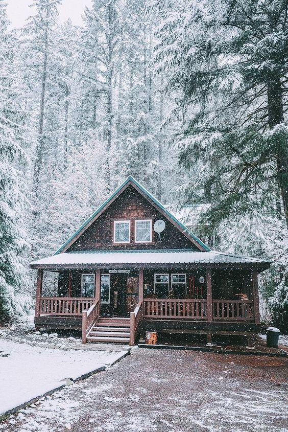 Очаровательные зимние загородные домики | Роскошь и уют Фото