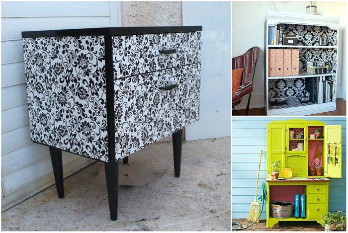 Как преобразить старые шкафы и стулья в стильные предметы интерьера
