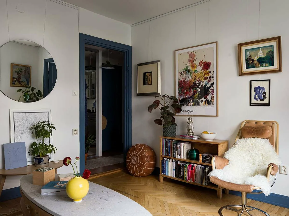 Никакого ремонта: почему старая квартира в доме 1937 года так круто выглядит идеи для дома,интерьер и дизайн