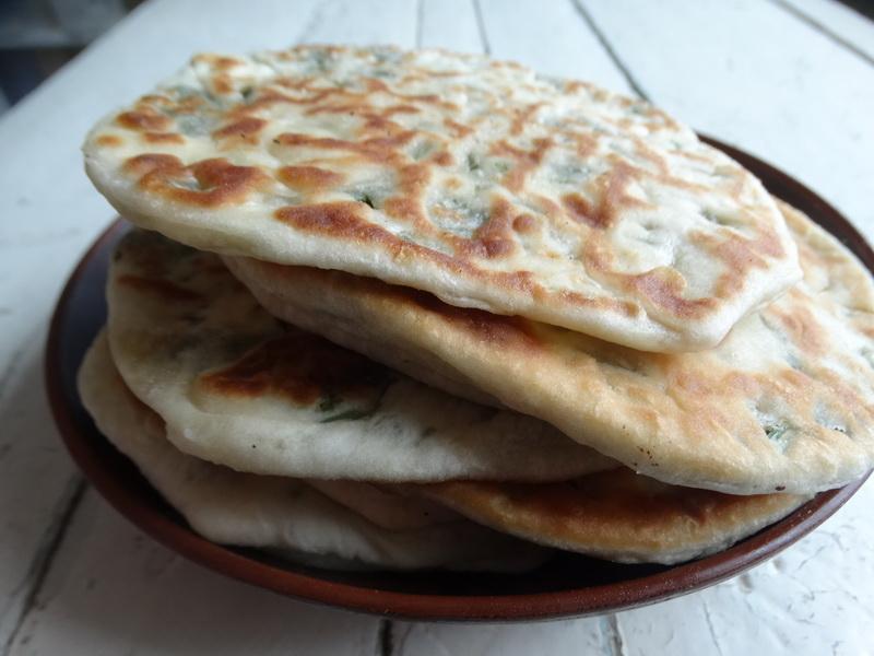 Зеленые лепёшки – оригинальный хлеб