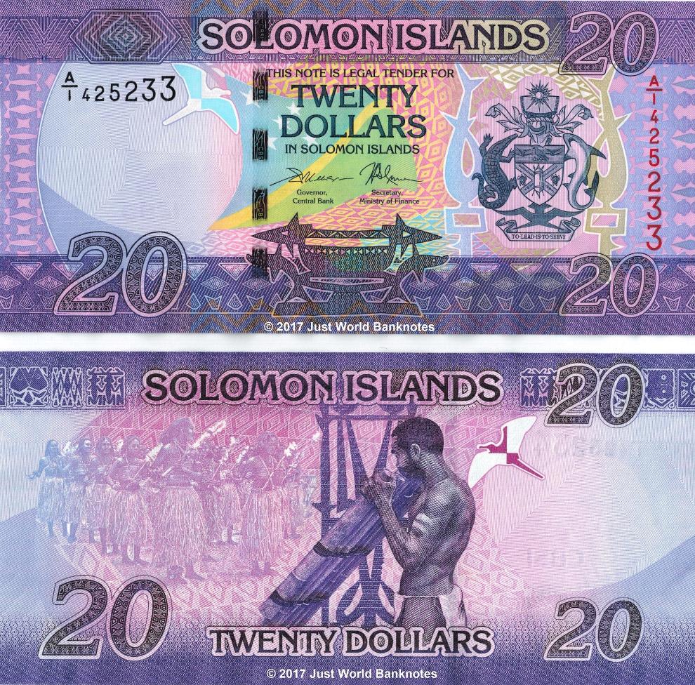 20 долларов Соломоновых островов