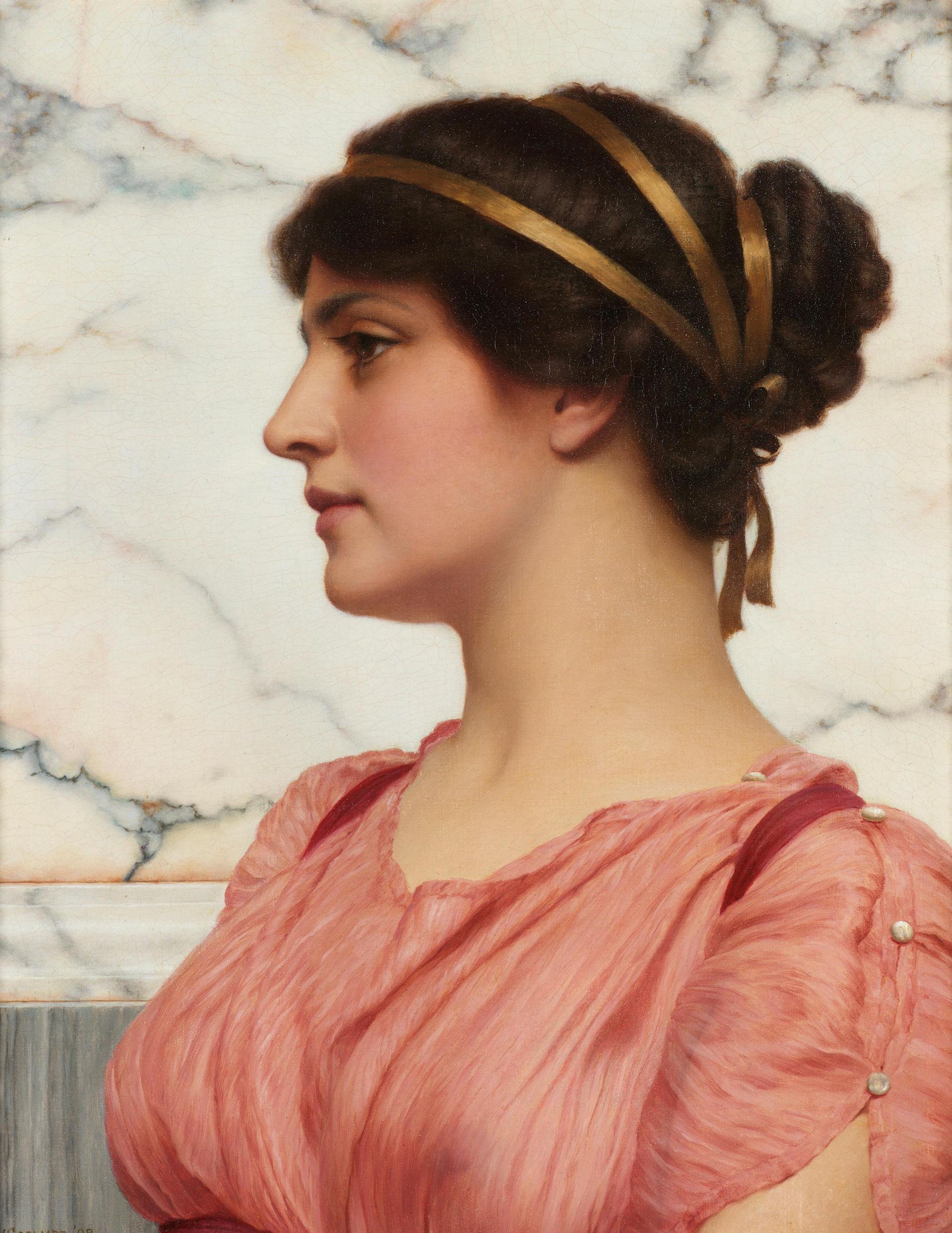 1908_Римская красавица (50 x 40 см) (ч.с.)