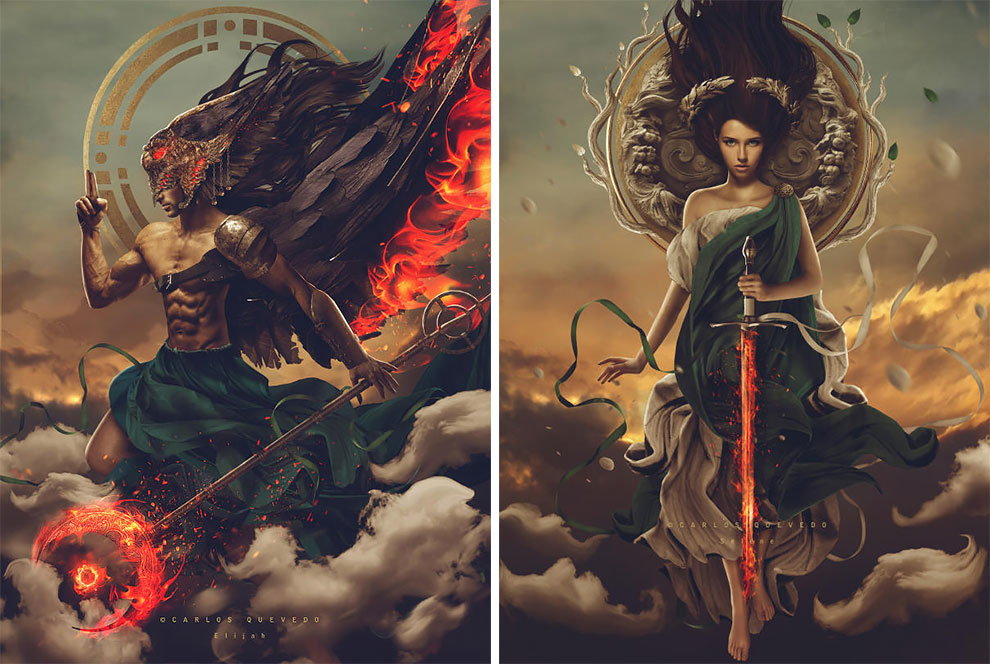 Ангелы карающие: фэнтезийные творения Карлоса Кеведо иллюстрация