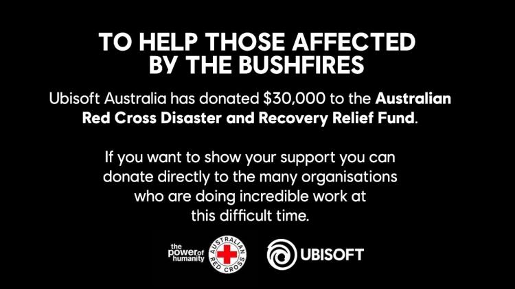 Ubisoft пожертвовала  000 на помощь в тушении пожаров Австралии ubisoft,благотворительность,Игры