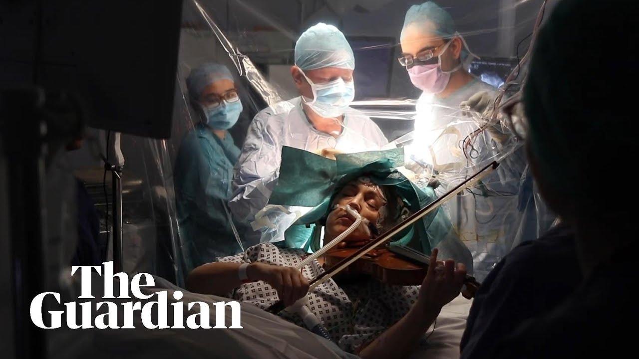Зачем хирурги попросили женщину играть на скрипке во время операции на мозге? медицина и здоровье,необычное,операции