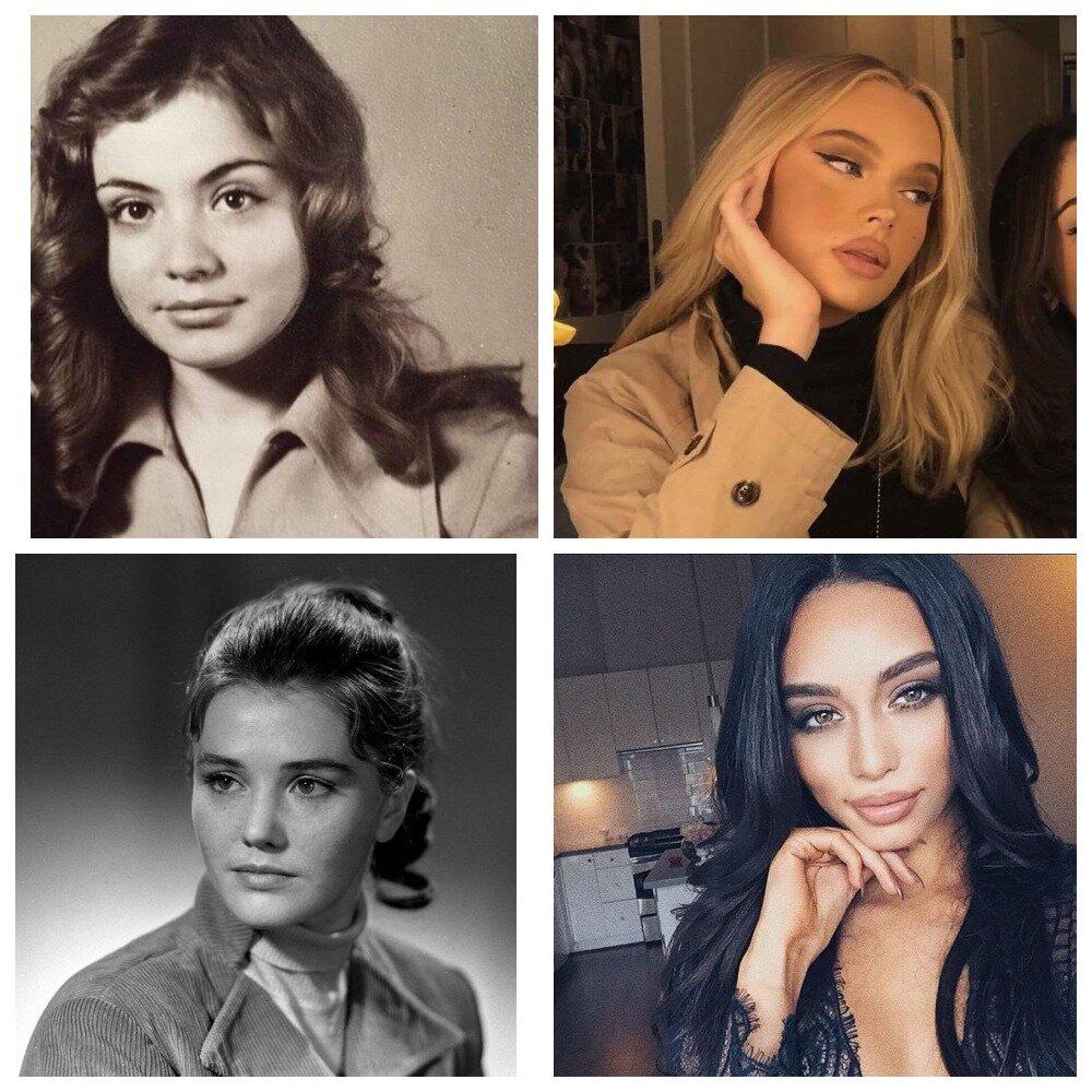 Естественная женская красота времен СССР против современных Инстадив знаменитости,красота,мода и красота