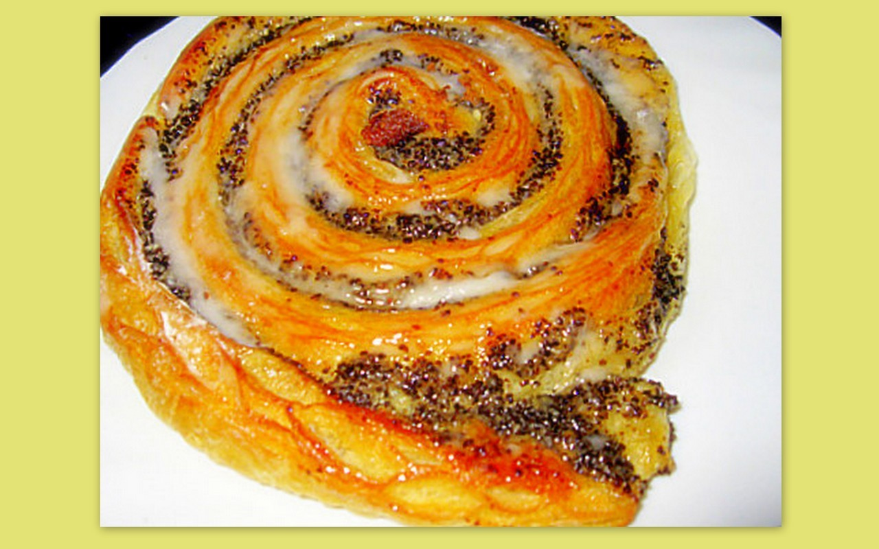 "пирожное"" маковая улитка "" из слоённого теста ... Фото-рецепт. Olga Dell"