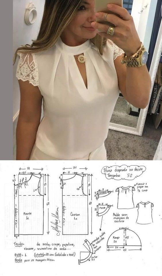 Моделирование изящных блузок блузки,одежда,рукоделие,сделай сам