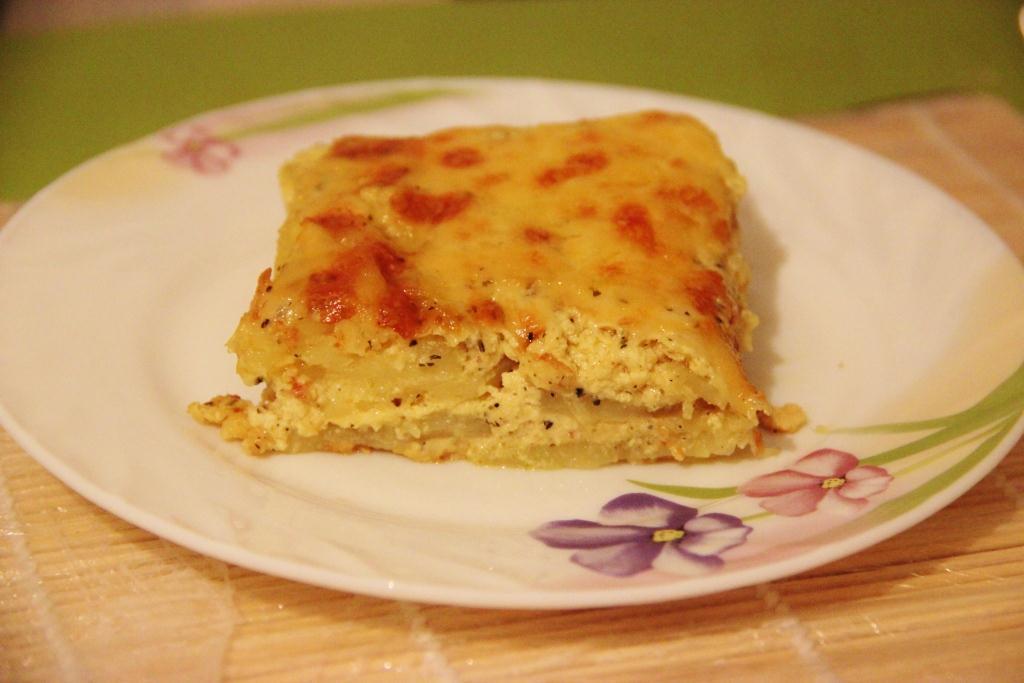 Нежная картофельная запеканка гауранга с адыгейским сыром вегетарианская кухня,запеканки,овощные блюда
