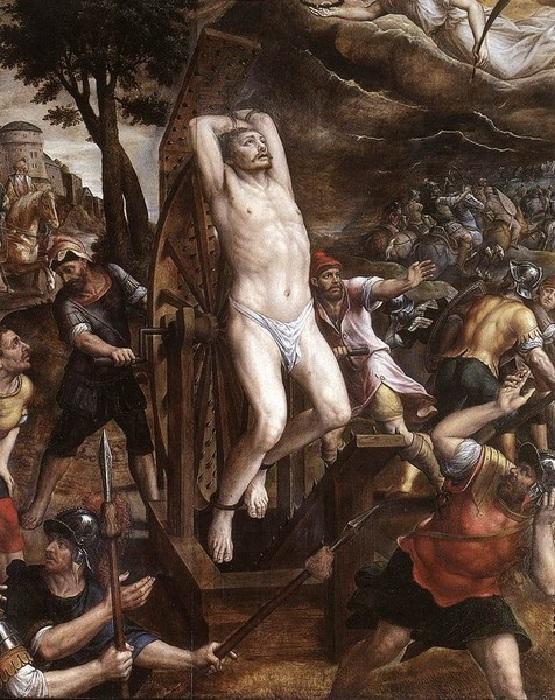 «Мученичество Святого Георгия». Автор: Микаэл Коксие.