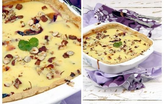 Картинки по запроÑу БожеÑтвенно вкуÑный пирог Ñо Ñливами и творожной заливкой