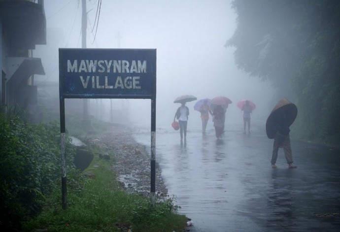 Самое дождливое место на Земле: деревня Мавсилам