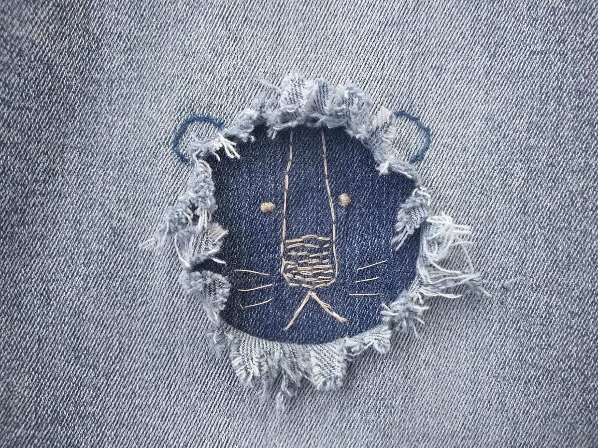 Идеи забавных заплаток на джинсы
